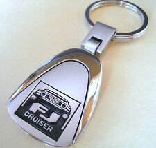 FJ CRUISER KEY CHAIN RING FOB TOYOTA SUV GIFT NEW RARE CHROME
