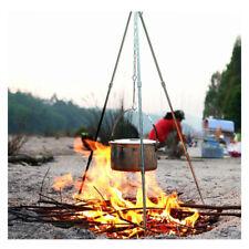 Camping Picnic Cooking Tripod Hanging Pot Campfire Picnic Pot Cast Iron Fire