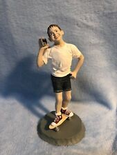 """Going Places"", 1989 Hallmark Days Of Childhood by Duane Unruh Boy Skateboard"