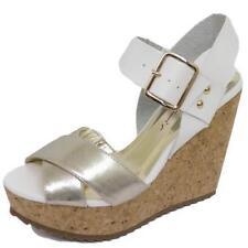 Zapatos de tacón de mujer plataformas de color principal plata sintético