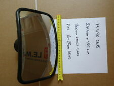 """Wide angle 10"""" x 6"""" (fits 16-28mm arms) Truck Plant blind spot mirror 300r glass"""