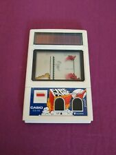 FIRE PANIC CASIO CG-20 - RARE VINTAGE SOLAR POWER LCD GAME HANDHELD GAME WATCH
