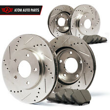 2010 2011 2012 Fits Hyundai Santa Fe (Slotted Drilled) Rotors Ceramic Pads F+R