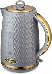 Tower T10052GRY Kettle, Empire Grey , 1.7L Capacity, New & Sealed