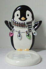 Bath & Body Works Candle Sleeve 3-Wick 14.5 oz PENGUIN with string of lights