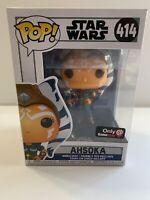 Funko POP! AHSOKA Star Wars Clone Wars Rebels Mandalorian GameStop #414 W/case