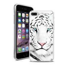 Coque Housse Iphone 7 Plus - Motif Tigre Blanc