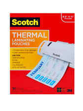 Scotch Thermal Laminating Pouches 100 Pack Count Paper Sheet Letter Size New