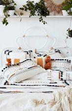 New Anthropologie Home Bedding Queen Duvet Geneva Kessabine Embroidered Cover