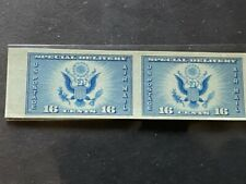 1934 US SCOTT # CE1 PAIR AIRMAIL SPECIAL DELIVERY