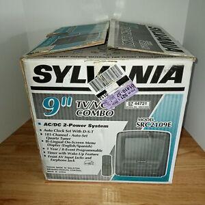 """RARE New in Box Sylvania 9"""" TV VCR VHS Player Combo SRC2109E Retro Gaming TESTED"""