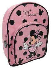 DISNEY Minnie Mouse Polka Ragazze Personaggio Zaino Zainetto Gratis P&P