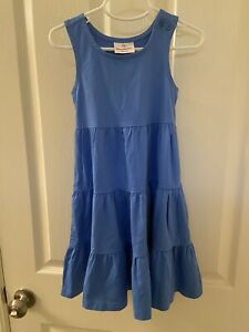 Hanna Andersson Blue Twirl Racerback Dress Girls Size 100 US 4 NWT