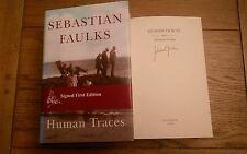 Human Traces SIGNED Sebastian Faulks Hardback 2005 1st edition 1st impression