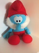 "2011 Nanco The Smurfs Papa Smurf 17"" Plush/Bean"