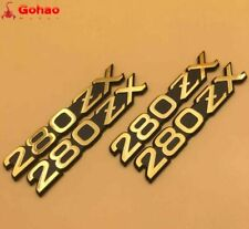 New DATSUN Gold 280ZX Front Fender Side Emblem/Badge Decal Stickers 2 Pairs 4pcs