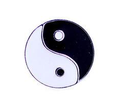 Art Deco vintage style silver tone black and white yinyang yin yang ring