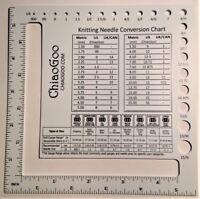 ChiaoGoo Double-Sided US-Metric Swatch/Needle Gauge 1091-SQ