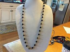 $39.99 Ann Taylor Long Gold and Black Bead Necklace 110 (3)
