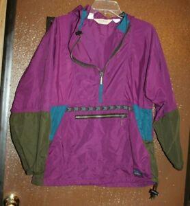 vtg 90s LL BEAN windbreaker pullover anorak jacket colorblock usa see measuremen