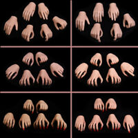 "3 Pairs 1/6 Scale Female Hands Model For 12"" Hot Toys Phicen Body Figure Dolls"