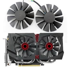 Fan T128010BH For ASUS STRIX GTX 1060 GTX 960 GTX 950 75mm DC 12V 0.25A Cooler