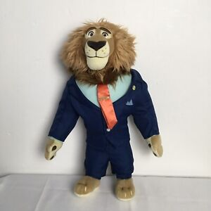 Disney Store Mayor Lionheart From Zootopia 17 inch Plush Soft Toy