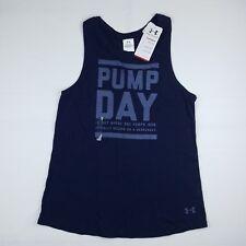 Under Armour Women's Wednesday Pump Iron Day Racerback Workout Tank Navy