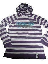 VERTBAUDET superbe Capuche Taille 146 Violet-Blanc Rayé!!!
