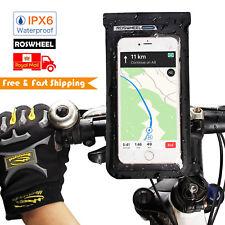 ROSWHEEL 360º control slot bike cell phone holder Waterproof handlebar handy bag