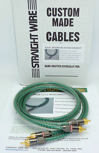 Straightwire Solo 1 meter Premium RCA Audio Interconnect cables