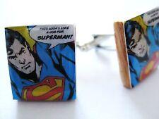 Superman Cufflinks Vintage Cartoon Movie Cufflinks handmade Unique superman gift