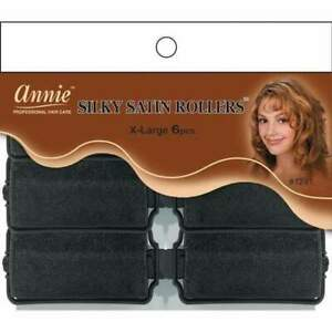 """Annie Silky Satin Foam Rollers - Soft Fabric - All Sizes - 5/8"""" - 1 1/2"""" 5 SIZES"""