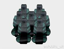FULL SET 7X GREEN SEAT COVERS CUSHION COVERS FOR 7 SEATER FORD GALAXY 1995-2006