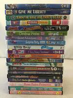 Family Animated DVDs Animaniacs Carmen Sandiego Brainy Baby CareBears Lot of 20