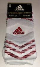 Adidas Speed Mesh Crew Socks 1Pair Men 6.5-9 Women7-10 White Red Football Soccer