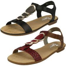 Sandali e scarpe grigi marca Rieker per il mare da donna tacco basso ( 1,3-3,8 cm )