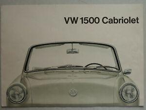 Prospekt VW Typ 3 1500 Cabriolet zur Premiere, 6 Seiten, folder, ca.1961, 151331