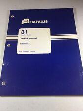 Fiat Allis 31 Crawler Tractor Hydraulics Service Manual
