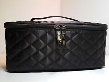 Black Satin -Train Travel Case Cosmetic Makeup Bag