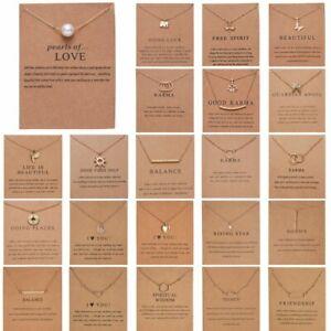 Fashion Women Animal Dragonfly Elephant Pearl Pendant Necklace Choker Card Gift