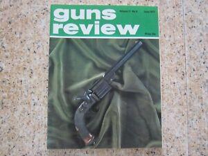 June 1977, GUNS REVIEW, Logan Thompson, LP210 Air Pistol, John Harun, Bergmann.