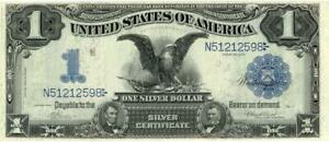 U.S. Large Size $1 Dollar Silver Certificate FR-228 Banknote 1899 VF/XF