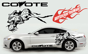 Mustang Coyote Double Sided Graphic Vinyl Decal Sticker FITS Ford Mustang