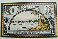 Notgeld DEUTSCHE KOLONIEN 50 Pfennig Samoa 1922 Germany kassenfrisch (2329)