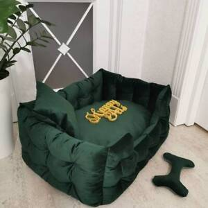 Handmade Dog Bed Casper Dog Bed Zipper Design Dog Bed Raised Bed FREE SHIPPING