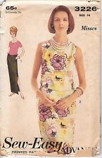Vtg Advance Sew Easy 1960 60s Pattern 3226 Top Skirt Dress Two-piece 2pc 14