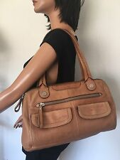 Fossil Bag Genuine Leather Designer Fashion Hip Chic Camel Quality