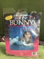 Instant Bunny Child Halloween Costume One Size 2-8 Yrs NIP