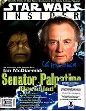IAN MCDAIRMID Signed Star Wars Insider magazine. BECKETT # C12180 PALPATINE